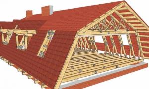 Мансардная крыша и стропильная система для нее