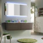 Фото: Зеркало с верхней и нижней подсветкой