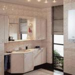 Фото: Газовая колонка в ванной комнате большого размера