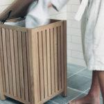 Фото: Необычная корзина для белья в ванную
