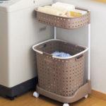 Фото: Пластиковая настенная корзина для белья