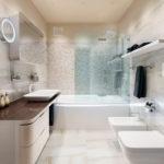 Фото: Белая ванная 6 кв м