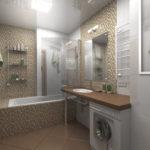 Фото: Большая ванная комната с плиткой мозайкой