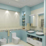 Фото: Большая стильная ванная комната