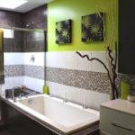 Фото: Ванная комната 5 кв м с зеленым цветом