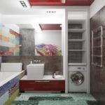 Фото: Ванная 5 кв м сочетание разных цветов