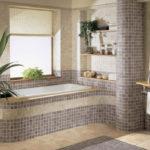Фото: Ванная 6 кв м из плиточки мозайки
