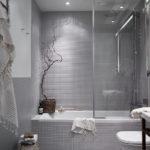 Фото: Декор серой ванной комнаты