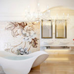 Фото: Дизайнерская большая ванная комната