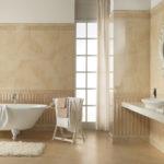 Фото: Дизайн бежевой ванной комнаты