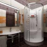 Фото: Дизайн ванной комнаты 5 кв м в коричневом тоне