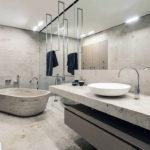 Фото: Каменная серая ванная комната