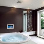 Фото: Коричневая ванная комната с джакузи