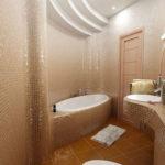 Фото: Красивая ванная 6 кв м