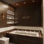 Фото: Красивая коричневая ванная комната