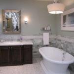 Фото: Необычный дизайн серой ванной комнаты