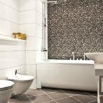 Фото: Светлая ванная комната из ПВХ панелей