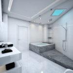 Фото: Серая ванная комната с джакузи