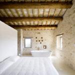 Ванная и спальня в одной комнате