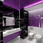 Темно фиолетовая ванная комната