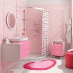 Красивая ванная комната для девочки
