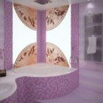 Потрясающая фиолетовая ванная комната