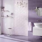 Спокойный цвет стен в ванной комнате