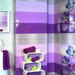 Разные оттенки фиолетового в ванной комнате