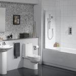 Косметический ремонт серой ванной комнаты