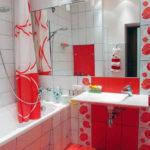 Косметический ремонт ванной с маками